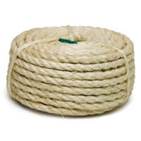 "1/4"" x 50\' (6mm x 14m) 3 Strand Twisted Sisal Rope"