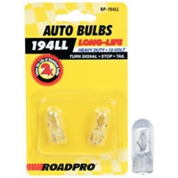 Heavy Duty Long-Life Automotive Replacement Bulbs - #194, Clear, 2-Pack