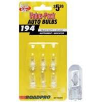 Heavy Duty Automotive Replacement Bulbs - #194, Clear, 6-Pack Value Pack