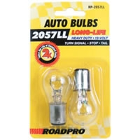 Heavy Duty Long-Life Automotive Replacement Bulbs - #2057, Clear, 2-Pack