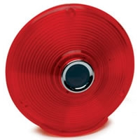 "4"" 3 Screw Replacement Lens with Blue Center - Red"
