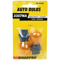 Heavy Duty Automotive Replacement Bulbs - #3357, Amber, 2-Pack