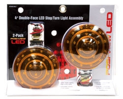 LED 4 Double Side Light Amber/Red