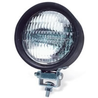 "4"" Round Sealed Light - Clear, Black Housing"