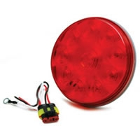 "4"" LED Low Profile Round Sealed Stop/Turn/Tail Light - Red"