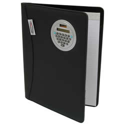 Executive Notepad Holder with Flip-Around Calculator