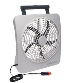 roadpro rp8000 10 12 volt or battery power portable fan 12volt travel. Black Bedroom Furniture Sets. Home Design Ideas