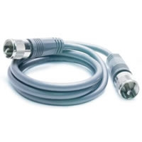 9\' CB Antenna Mini-8 Coax Cable with PL-259 Connectors - Gray