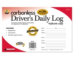 Carbonless Driver\'s Daily Log Book with 31 Triplicate Sets