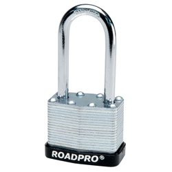 "40mm Laminated Steel Padlock with Bumper Guard - 2"" Shackle"