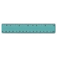 "6"" Clear Plastic Ruler"