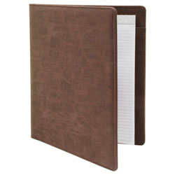Padfolio with Writing Pad, Brown