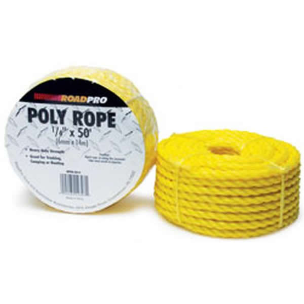 ".25"" x 50' Yellow Polyurethane Rope"