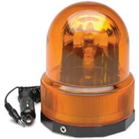 12 Volt Revolving Warning Light with Magnetic Base - Amber Light