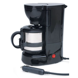 12-Volt Quick Cup Coffee Maker with 16 Ounce Metal Carafe
