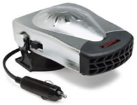 12 Volt All Season Heater/Fan with Stylish Chrome Finish & Black Accents