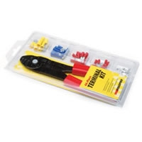 44-Piece Wire Terminal Kit with Wire Cutting/Crimping Tool