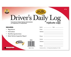Driver\'s Daily Log Book with 31 Triplicate Sets (Carbon)