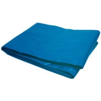 6\' x 8\' Double Polyethylene Tarp with Reinforced Corners - Blue