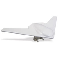 "14"" Platinum Series Mirror Mount Wing TV Antenna - White"