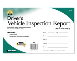 Vehicle Inspection Report w/31 Duplicate Sets