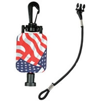 GearKeeper Retractable Stars & Stripes CB MicKeeper