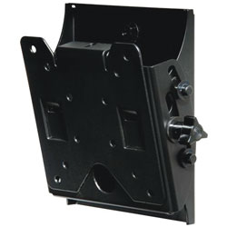 10-24 Universal Flat Wall Mount for LCD Screens - Up to 80 lbs Black Finish