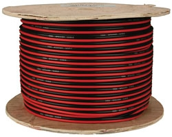 500\' Roll 16-Gauge Speaker Cable - Red/Black