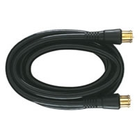 3' Coaxial Cable with RG6 Connectors - Black