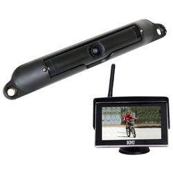 Wi-fi Rear View Camera System With 4.3 LCD Monitor Black Finish