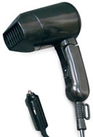 12volt curling irons and hair dryers